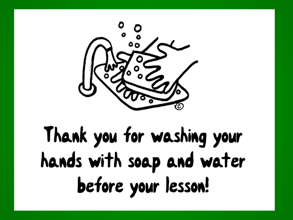 Thank You for Washing Your Hands with Soap & Water Before Your Lesson! - Free download available at www.MusicforYoungViolinists.com #FreeViolinMusic, #Violin, #ViolinTeaching, #ViolinPractice, #SuzukiViolin