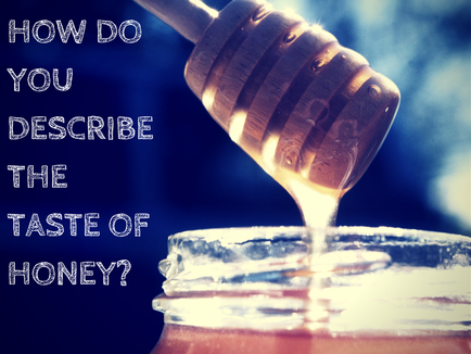 How do you describe the taste of honey?