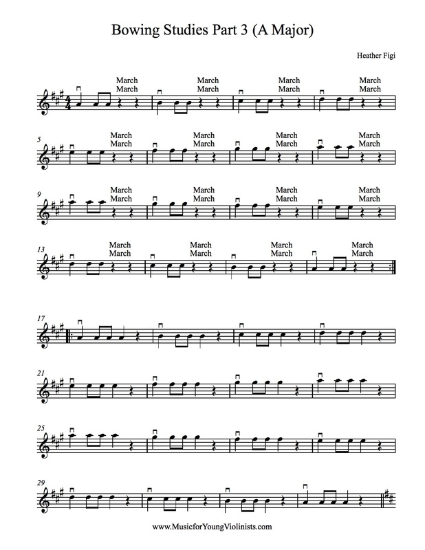 Beginner violin scales