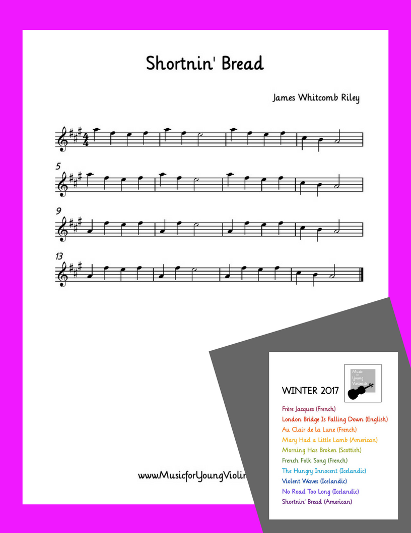 Shortnin' Bread Violin