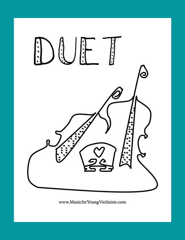 duet coloring page
