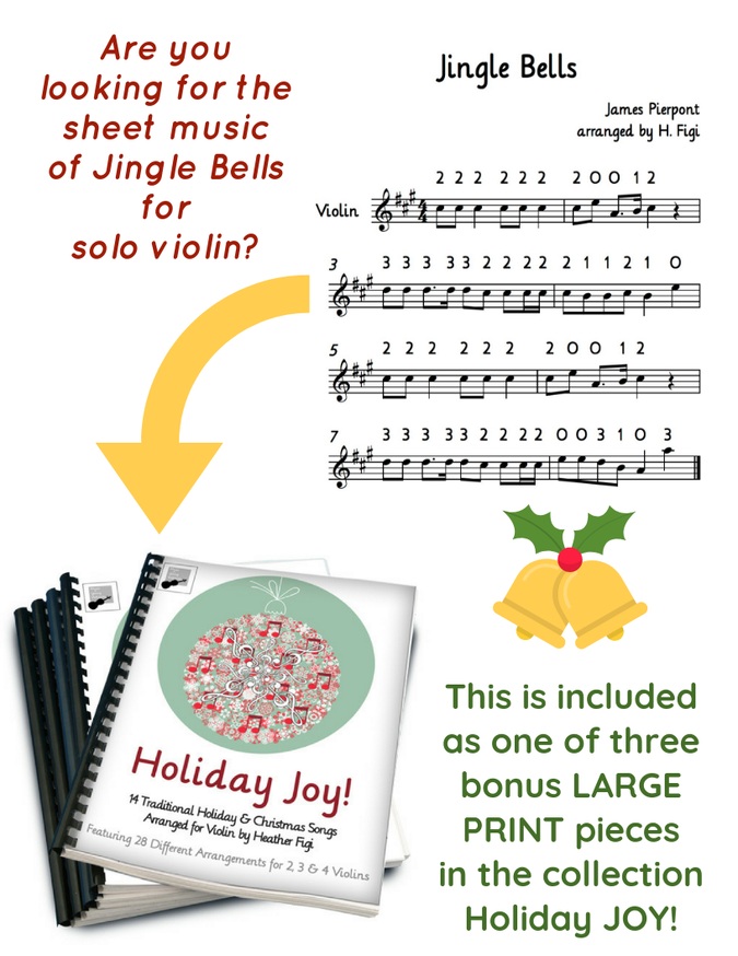 Jingle Bells Violin Beginner