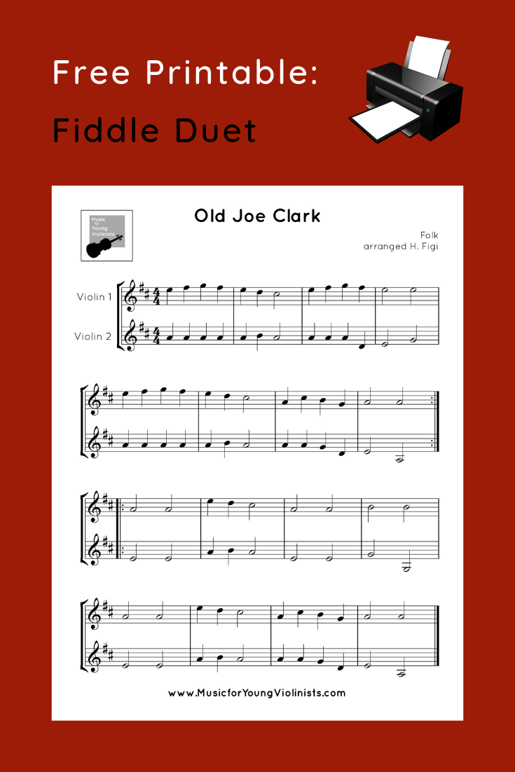 Fiddle Duet Free Printable