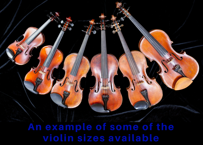 How many violin sizes are there