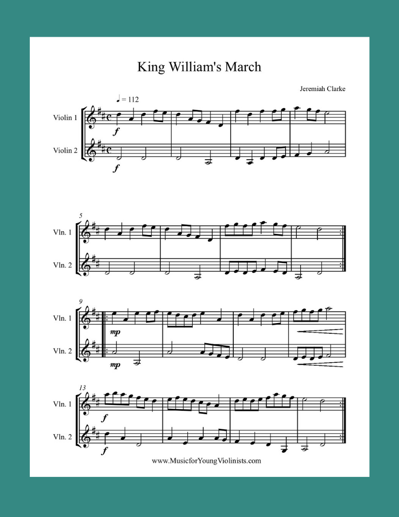 King Williams March