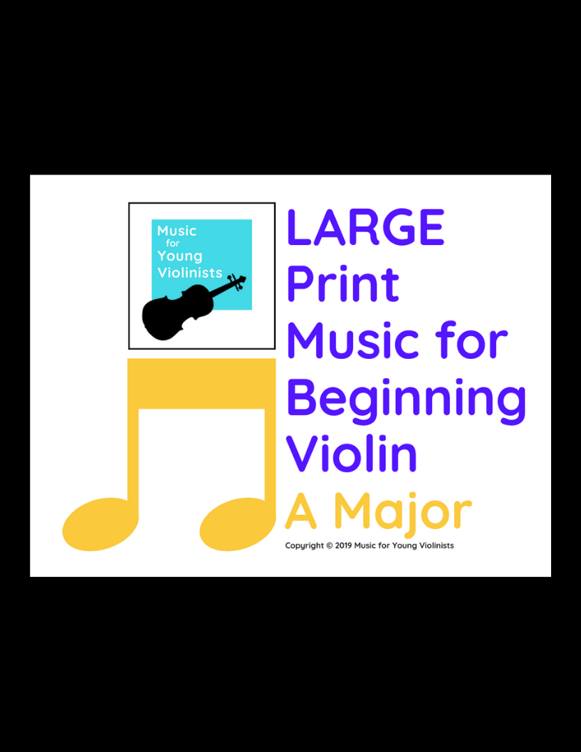 Large print music violin