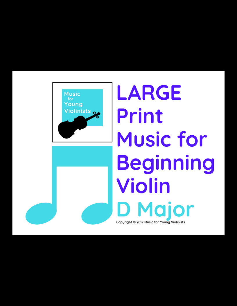 Large Print Violin Sheets