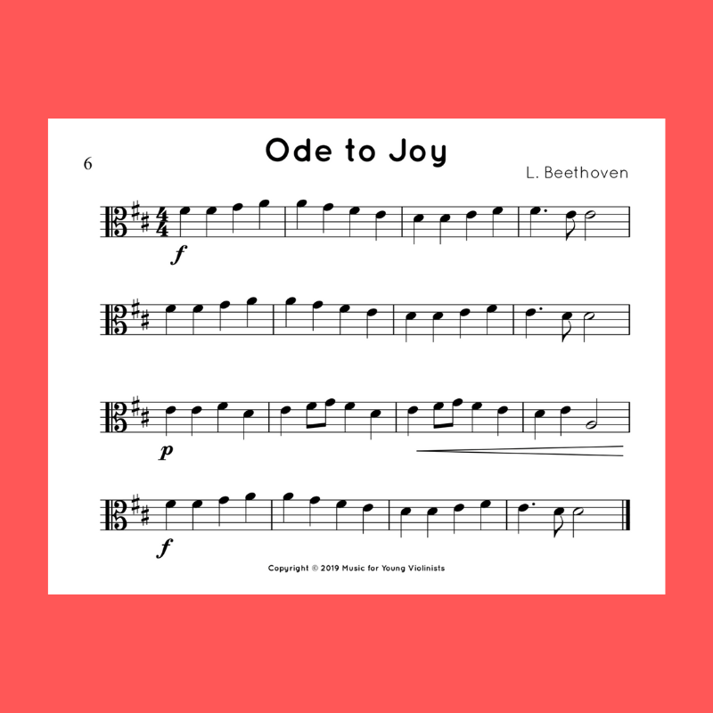 ode to joy viola