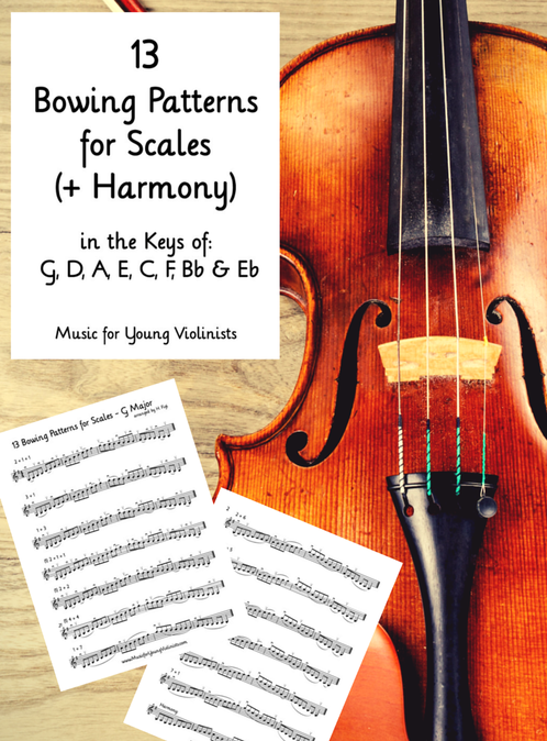 13 Bowing Patterns for Scales (violin)