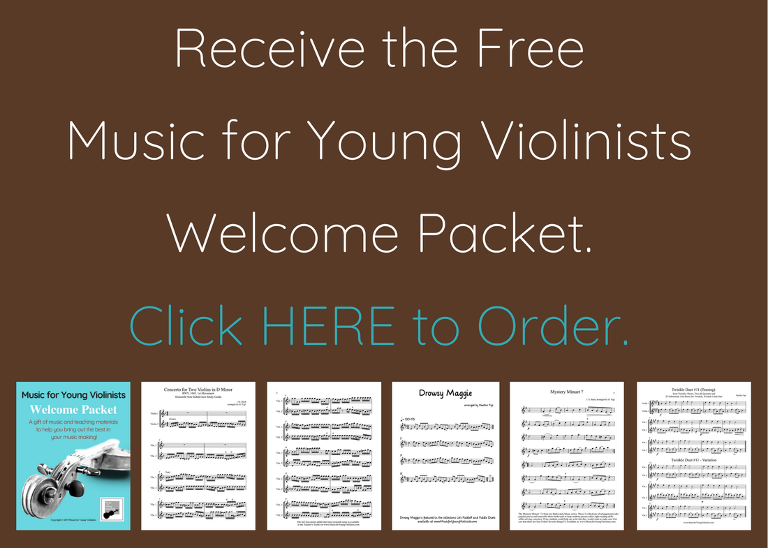 Welcome Packet Music Young Violinists